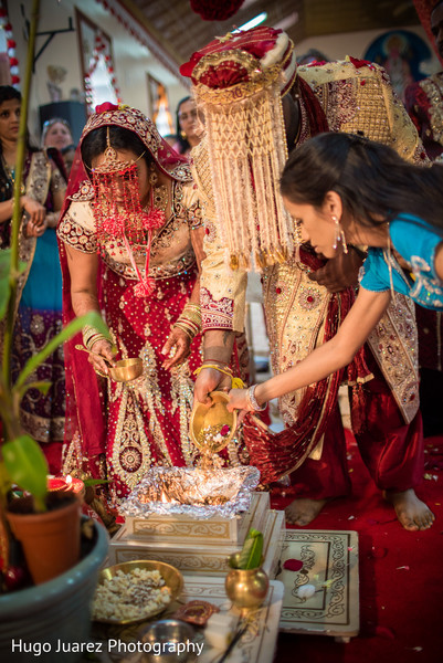 Ceremony in Woodbury, NY Indian Wedding by Hugo Juarez Photography