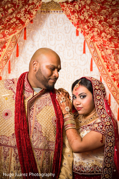 Wedding Portrait in Woodbury, NY Indian Wedding by Hugo Juarez Photography