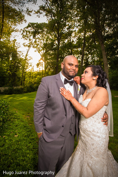 Reception Portrait in Woodbury, NY Indian Wedding by Hugo Juarez Photography