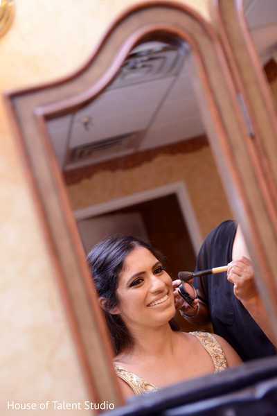 Getting Ready in Woodland Park, NJ Indian Fusion Wedding by House of Talent Studio