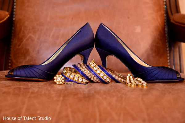 Shoes & Bridal Jewelry in Woodland Park, NJ Indian Fusion Wedding by House of Talent Studio