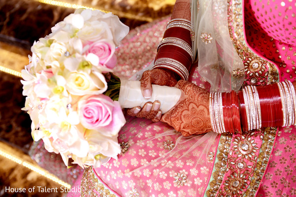 Bridal Bouquet in Woodland Park, NJ Indian Fusion Wedding by House of Talent Studio