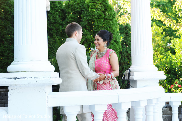 First Look in Woodland Park, NJ Indian Fusion Wedding by House of Talent Studio
