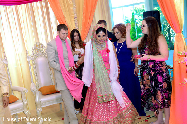 Ceremony in Woodland Park, NJ Indian Fusion Wedding by House of Talent Studio