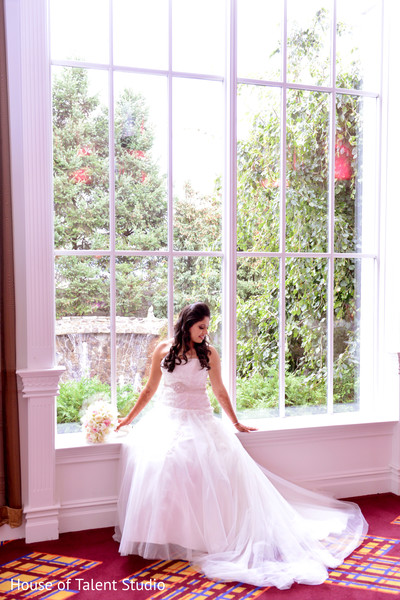 Bridal Portrait in Woodland Park, NJ Indian Fusion Wedding by House of Talent Studio
