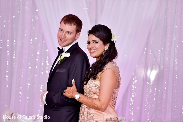 Reception in Woodland Park, NJ Indian Fusion Wedding by House of Talent Studio