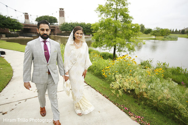 First Look Portraits in Richmond, TX South Asian Wedding by Hiram Trillo Art Photography
