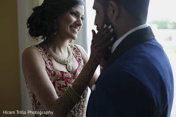 Reception Portraits in Richmond, TX South Asian Wedding by Hiram Trillo Art Photography