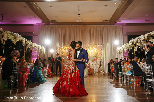First Dance in Richmond, TX South Asian Wedding by Hiram Trillo Art Photography