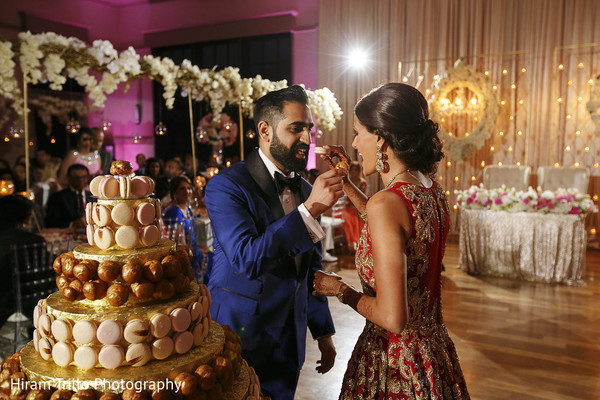 Cake Cutting in Richmond, TX South Asian Wedding by Hiram Trillo Art Photography