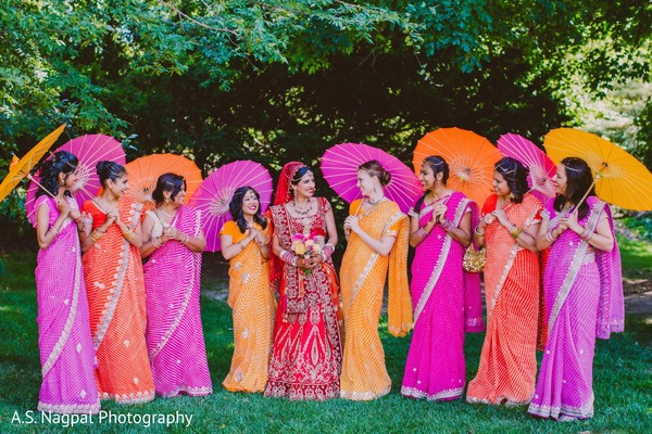 Bridal Party Portrait in Princeton, NJ Indian Wedding by A.S. Nagpal Photography