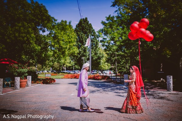First Look in Princeton, NJ Indian Wedding by A.S. Nagpal Photography
