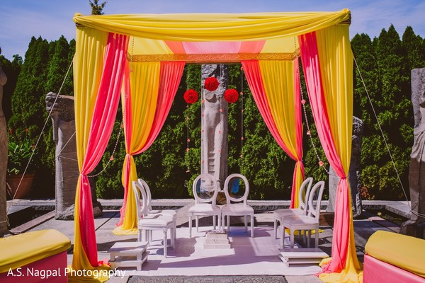Mandap in Princeton, NJ Indian Wedding by A.S. Nagpal Photography