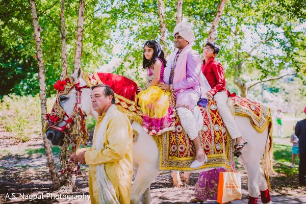Baraat in Princeton, NJ Indian Wedding by A.S. Nagpal Photography