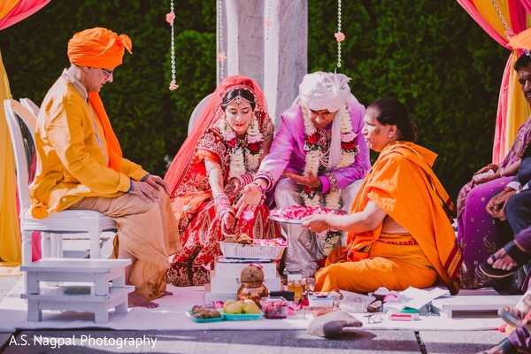 Ceremony in Princeton, NJ Indian Wedding by A.S. Nagpal Photography