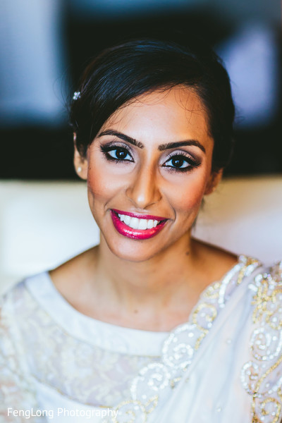 Bridal Portrait in Atlanta, GA South Asian Wedding by FengLong Photography