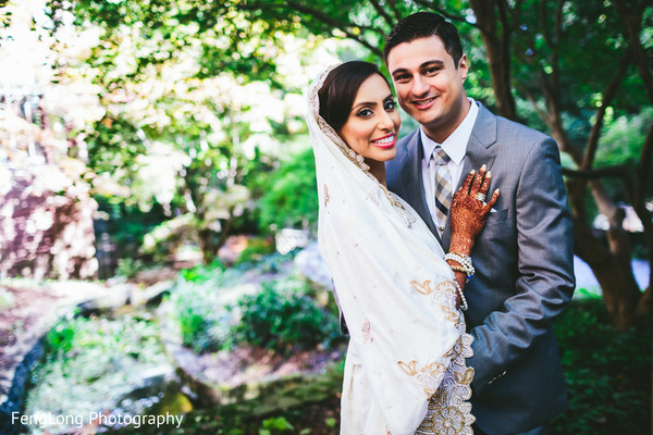 First Look in Atlanta, GA South Asian Wedding by FengLong Photography