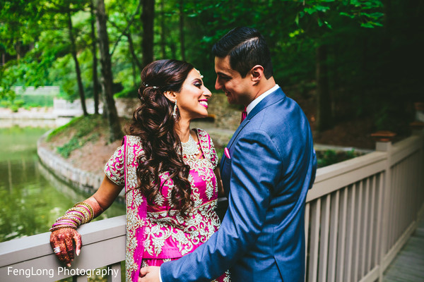 Reception Portrait in Atlanta, GA South Asian Wedding by FengLong Photography