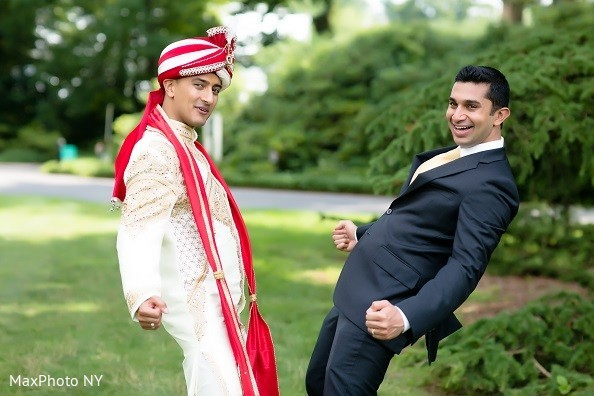 Groom Portrait in Long Island, NY Indian Wedding by MaxPhoto NY