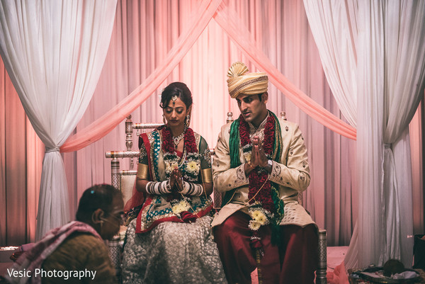 Ceremony in Charlotte, NC Indian Wedding by Vesic Photography