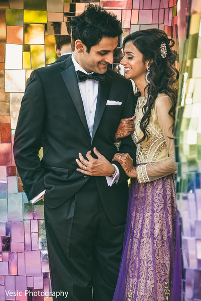Reception Portraits in Charlotte, NC Indian Wedding by Vesic Photography