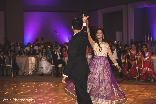 First Dance in Charlotte, NC Indian Wedding by Vesic Photography
