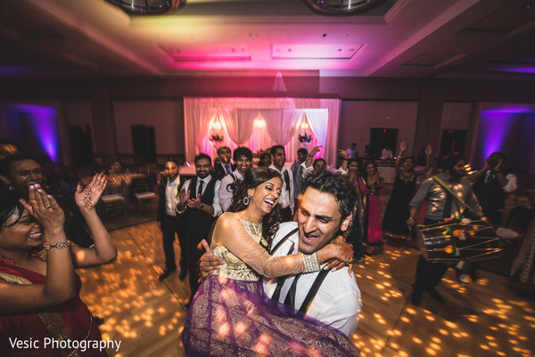 Reception in Charlotte, NC Indian Wedding by Vesic Photography