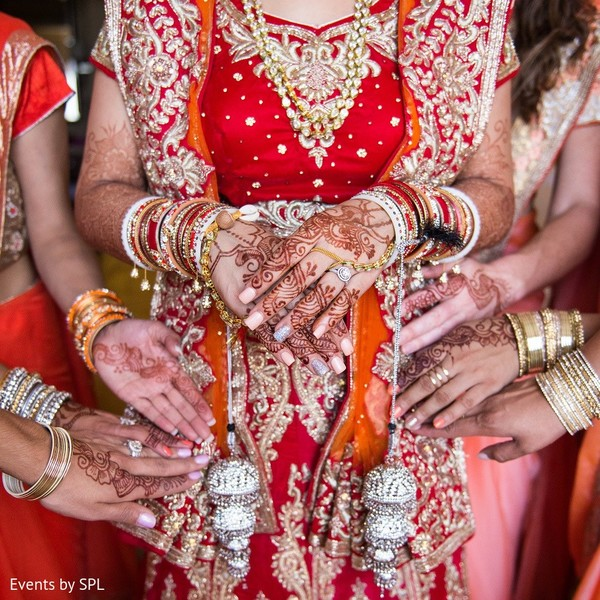 Bridal Party & Mehndi in Atlanta, GA Indian Wedding by Events by SPL