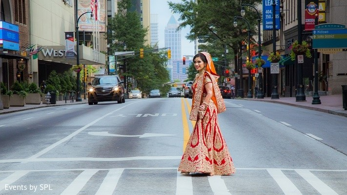 Bridal Portrait in Atlanta, GA Indian Wedding by Events by SPL