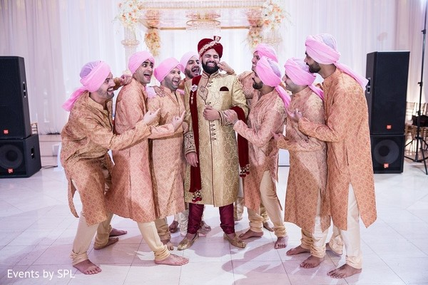 Groomsmen Portrait in Atlanta, GA Indian Wedding by Events by SPL
