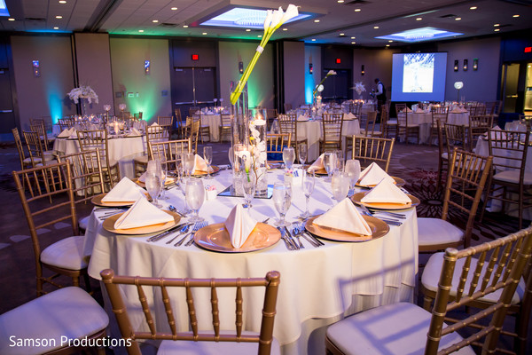 Reception Decor in St. Louis, MO Indian Wedding by Samson Productions