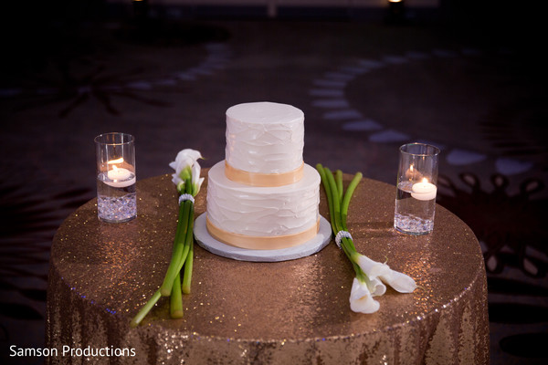 Wedding Cake in St. Louis, MO Indian Wedding by Samson Productions