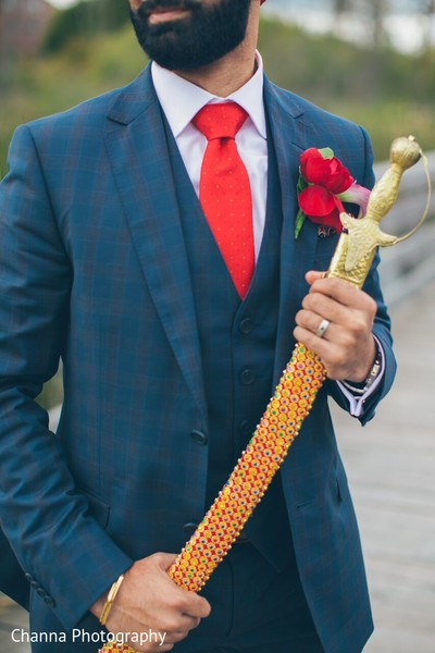 Groom Fashion in Toronto, Canada Sikh Indian Wedding by Channa Photography