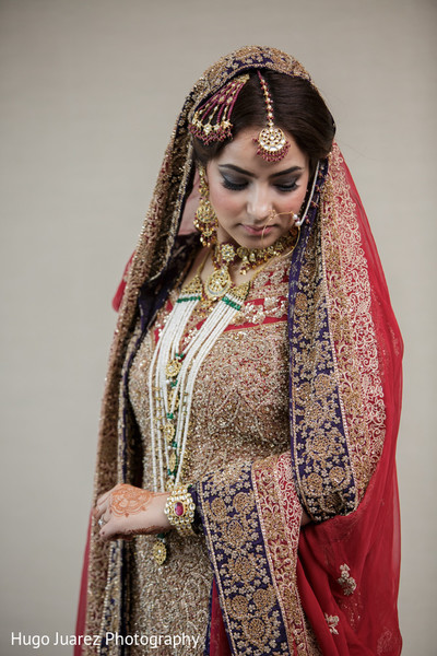 Bridal Portrait in New Fairfield, NJ Pakistani Wedding by Hugo Juarez Photography