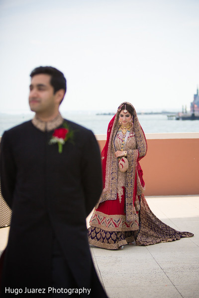 First Look in New Fairfield, NJ Pakistani Wedding by Hugo Juarez Photography