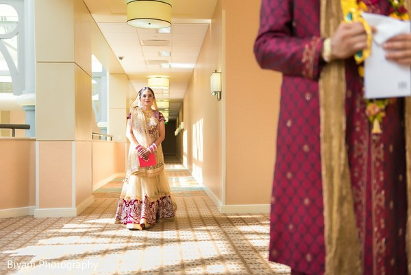 First Look Portraits in Houston, TX Indian Wedding by Biyani Photography