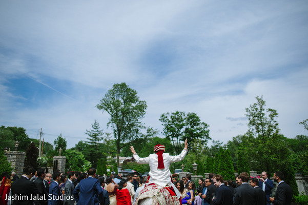 Baraat in New Rochelle, NY Hindu Fusion Wedding by Jashim Jalal Studios