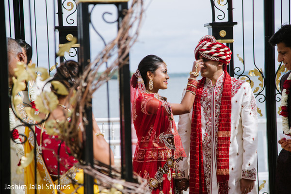 Ceremony in New Rochelle, NY Hindu Fusion Wedding by Jashim Jalal Studios