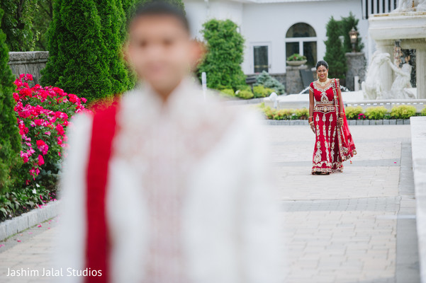First Look Portraits in New Rochelle, NY Hindu Fusion Wedding by Jashim Jalal Studios