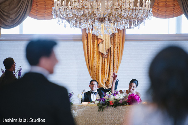 Reception in New Rochelle, NY Hindu Fusion Wedding by Jashim Jalal Studios