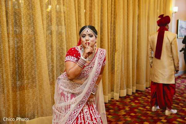 First Look in Norwalk, CA Indian Wedding by Chico Photo