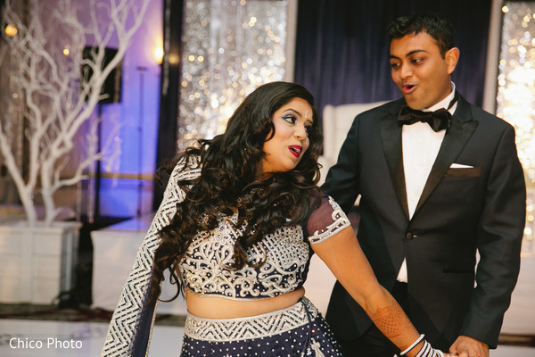 Reception in Norwalk, CA Indian Wedding by Chico Photo