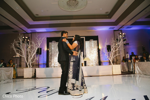 First Dance in Norwalk, CA Indian Wedding by Chico Photo