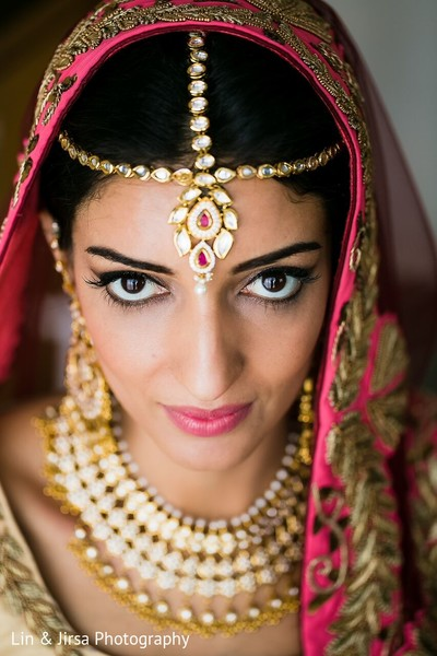 Bridal Portrait in Coronado, CA Indian Wedding by Lin & Jirsa Photography