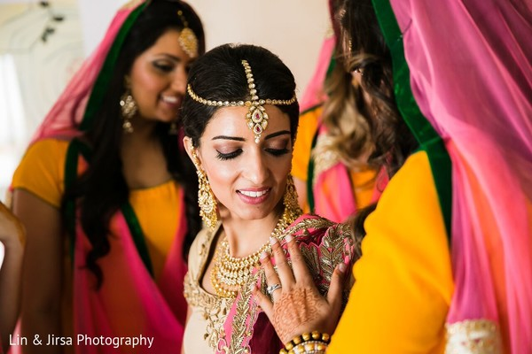 Getting Ready in Coronado, CA Indian Wedding by Lin & Jirsa Photography