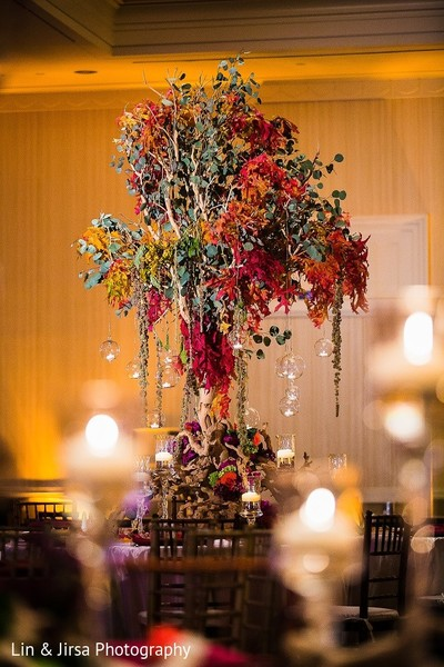 Centerpiece in Coronado, CA Indian Wedding by Lin & Jirsa Photography