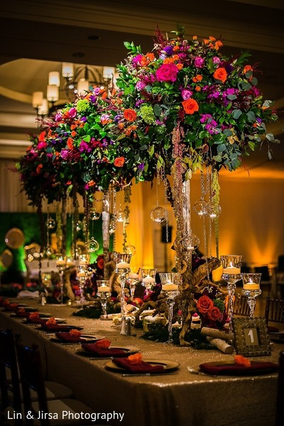 Floral & Decor in Coronado, CA Indian Wedding by Lin & Jirsa Photography