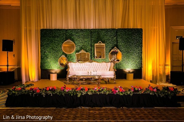 Sweetheart Stage in Coronado, CA Indian Wedding by Lin & Jirsa Photography