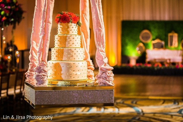 Wedding Cake in Coronado, CA Indian Wedding by Lin & Jirsa Photography