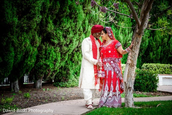 First Look in Fremont, CA Sikh Fusion Wedding by Dawid Bilski Photography